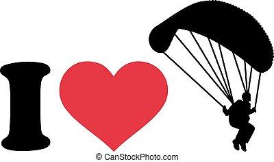 I love skydiver