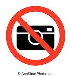 No Digital photo camera sign.