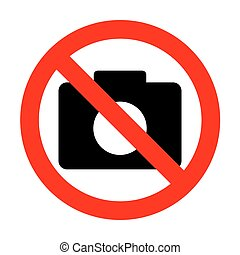 No Digital camera sign.