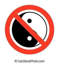 No Ying yang symbol of harmony and balance.