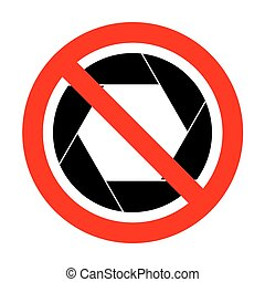 No Photo sign illustration.