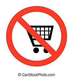 No Shopping cart sign.