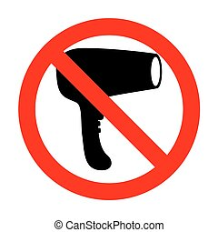 No Hair Dryer sign.