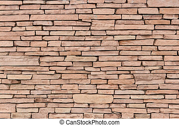 stone wall decor - Wall lined with decorative stone texture...