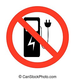 No Electric car charging station sign.