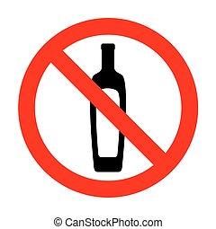 No Olive oil bottle sign.