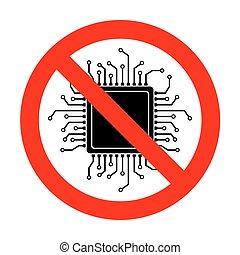 No CPU Microprocessor illustration.