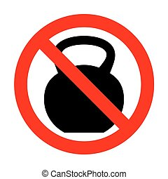 No Fitness Dumbbell sign.