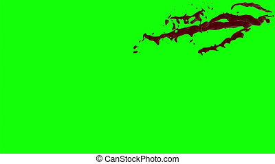 Blood Burst Slow Motion (Green Screen) 160 - Nice HD slow...