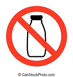 No Milk bottle sign.