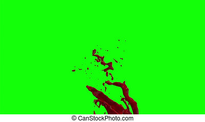 Hd Blood Burst Slow Motion (Green Screen) 159 - Nice HD slow...