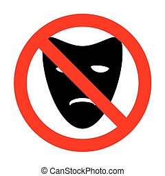 No Tragedy theatrical masks.