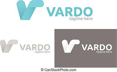 Letter V vector logo.