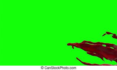 Hd Blood Burst Slow Motion (Green Screen) 171 - Nice HD slow...