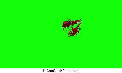 Blood Burst Slow Motion (Green Screen) 143 - Nice HD slow...