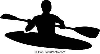 Kayaker silhouette
