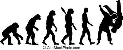 Judo fight evolution