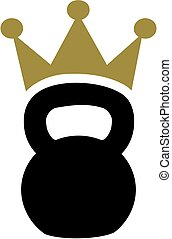 Kettlebell with crown