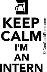 Keep calm I'm an intern
