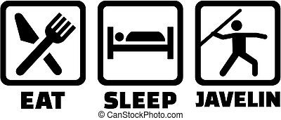 Javelin throw eat sleep icons