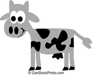 Comic cows with big eyes
