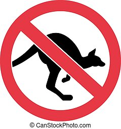 Kangaroos forbidden