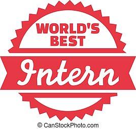 World's Best Intern Badge