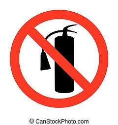 No Fire extinguisher sign.