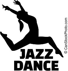 Female jazz dancer