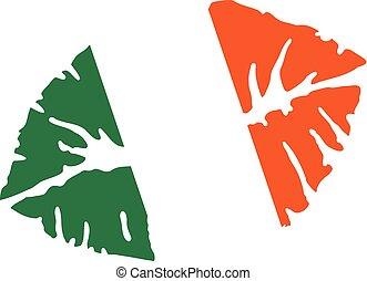 Irish Kiss in colors of the ireland flag