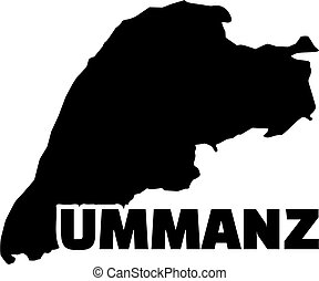 Ummanz map with name