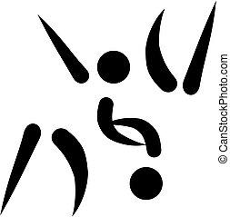 Judo fighter icon