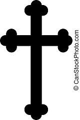 Decorated christian cross