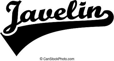 Javelin word retro