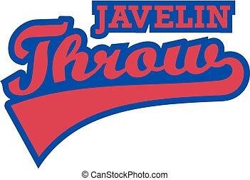 Javelin throw retro word