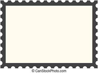 black postage stamp template. concept of message,...