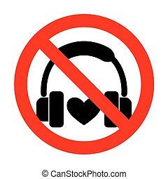 No Headphones with heart.