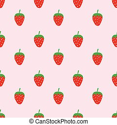 Seamless cute strawberry pattern