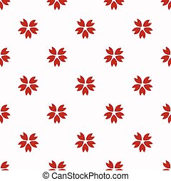 Red japanese cherry sakura pattern