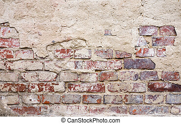 Rough wasted bricks background