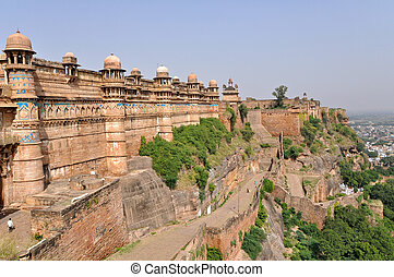 Gwalior Fort - Famous Gwalior fort in Madhya Pradesh, India