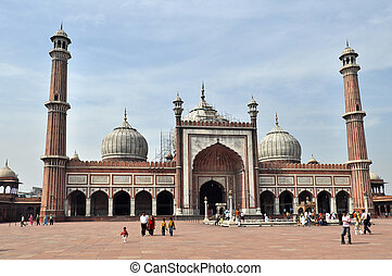 Jama Masjid Mosque - OLD DELHI, INDIA ? 24 OCTOBER, 2009:...