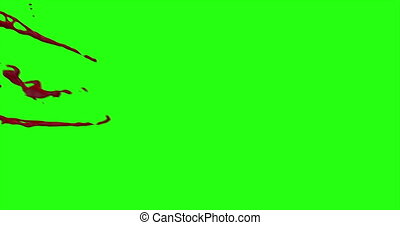 Blood Burst Motion Blur (Green Screen) 176 - Nice and real...