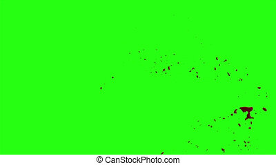 Blood Burst Motion Blur (Green Screen) 68 - High quality HD...