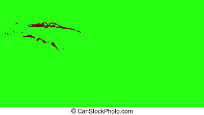 Blood Burst Motion Blur (Green Screen) 25 - Nice and real 4K...