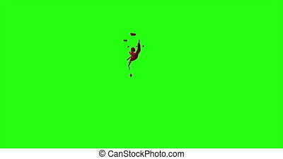 Blood Burst Motion Blur (Green Screen) 101 - Nice and real...