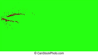 Blood Burst Motion Blur (Green Screen) 46 - Nice and real 4K...