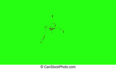 Blood Burst Motion Blur (Green Screen) 106 - High quality...