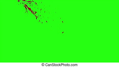 Blood Burst Motion Blur (Green Screen) 79 - Nice and real 4K...