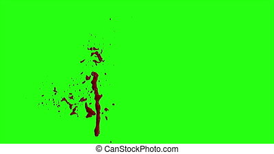 Blood Burst Motion Blur (Green Screen) 154 - Nice and real...